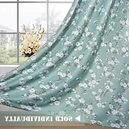 H.VERSAILTEX Country Aqua Floral Print Blackout Curtain for