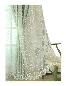 Aside Bside Countryside Style Sheer Window Curtains Rod Pock