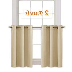 RYB HOME Thermal Insulated Tiers Short Curtains for Living R