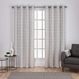 Exclusive Home Curtains Cressy Geometric Textured Linen Jacq