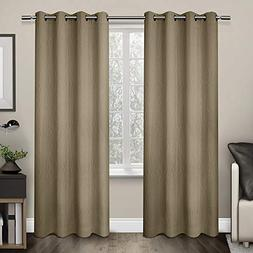 Exclusive Home Crete Textured Jacquard Thermal Grommet Panel