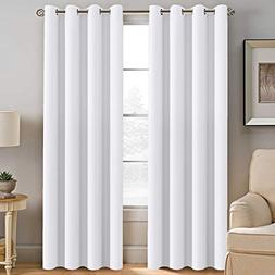 H.VERSAILTEX White Curtain 84 inches Long for Living Room Th