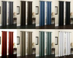 Curtains 100% Blackout Thermal Insulated Set Of 2 Panels