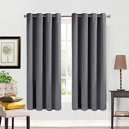 Curtains 2 Panels Thermal Insulated Grommets Drapes for Bedr