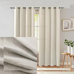 jinchan Curtains for Bedroom Linen Textured Room W52 x L84,