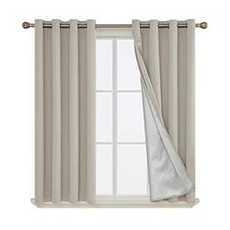 Deconovo Grommet Blackout Curtains Thermal Insulated Light B