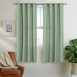 jinchan Curtains Linen Textured Drapes Grommets Curtains