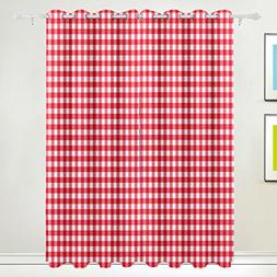 ALAZA My Daily Red Pink Plaid Gingham Checkered Thermal Insu