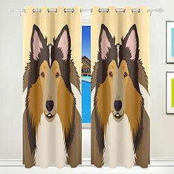 ALAZA My Daily Rough Collie Dog Thermal Insulated Blackout G