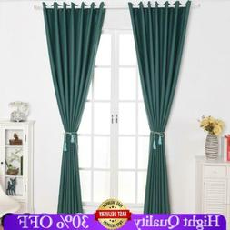 Darkening Room Thermal Insulated Eyelet Ring Top Window Curt