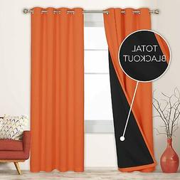 Deconovo 100% Blackout Curtains 84 Inches Long Set of 2 Tota