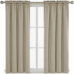 Deconovo Rod Pocket Blackout Curtains Thermal Insulated Curt