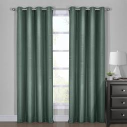 Royal Hotel Diamond Turquoise Curtains, Blackout Top Grommet
