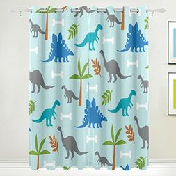 ALIREA Dinosaurs Blackout Curtains Darkening Thermal Insulat