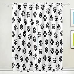 ALAZA Dog Cat Paw Doodle Thermal Insulated Blackout Grommet