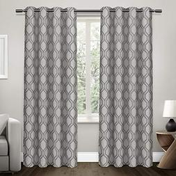 Exclusive Home Curtains Domino Heavyweight Jacquard Linen Bl