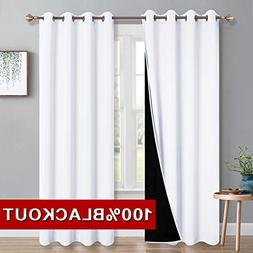 PONY DANCE Double Layers Curtains - 100% Blackout Lined Pane