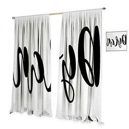 Anniutwo Dylan Thermal Insulating Blackout Curtain Monochrom