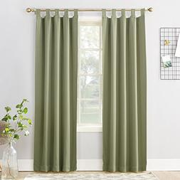 Sun Zero Easton Blackout Energy Effcient Tab Top Curtain Pan