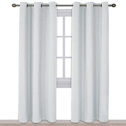 NICETOWN Easy Care Solid Thermal Insulated Grommet Room Dark