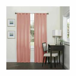 """ECLIPSE, Coral Blackout Curtains for Bedroom-Darrell 37"""" x 6"""