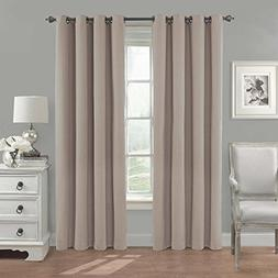 Eclipse Nadya Solid Blackout Window Curtain Panel, 84-Inch,