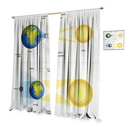 Anniutwo Educational Thermal Insulating Blackout Curtain Sol