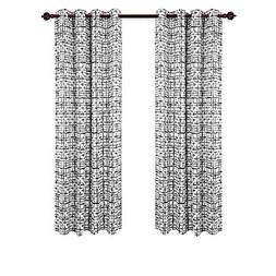 Deconovo Elegant Abstract Pattern Curtains Grommet Top Therm