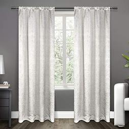 Exclusive Home Curtains Embossed Satin Rod Pocket Window Cur