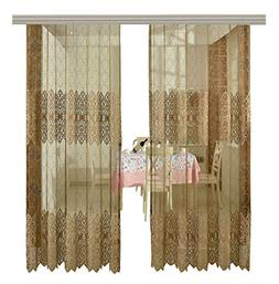 ASide BSide Embroidered Sheer Curtains with beads Rod Pocket