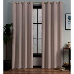 Exclusive Home Curtains Academy 52 in. W x 84 in. L Woven Bl