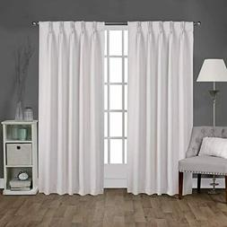 Exclusive Home Sateen Twill Woven Blackout Curtains Set 52""