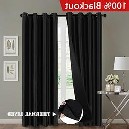 H.VERSAILTEX 100% Blackout Curtains with Black Liners, Funct