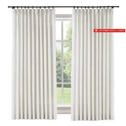 """Chadmade Extra Wide Curtain 100"""" W X 84"""" L Polyester Linen D"""