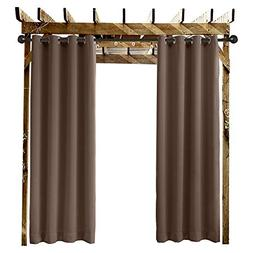 "Extra Wide Outdoor Curtain Chocolate 150"" W x 96"" L Grommet"