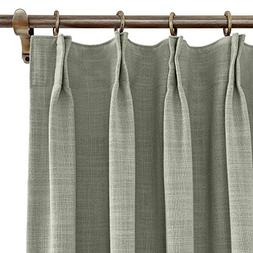"ChadMade Extra Wide 120"" W x 84"" L Polyester Linen Drapes wi"