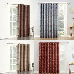 Extra-Wide Thermal Insulated Blackout for Patio Door Curtain