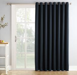 Sun Zero Extra-wide panel Blackout Patio Door Curtain Panel