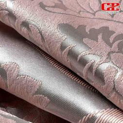 Fabric Elegant Luxury Blackout Curtains For Living Room Pink