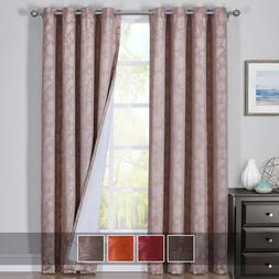 Fannie 100% Blackout Curtains Triple Pass Thermal Insulated