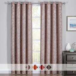 2PC Fannie Thermal Insulated Blackout Curtain Set Grommet Ja