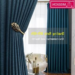 MISSION Faux Linen 80%-85% Shading Thick Thermal Insulated <