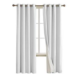 Deconovo Faux Linen Blackout Curtains with 3 Pass Energy Eff