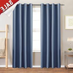 jinchan Faux Silk Blackout Curtains for Bedroom, Living Room