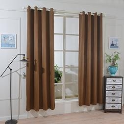 Mai kuu Faux Silk Curtains for Bedroom 50 x 72 inches Gromme