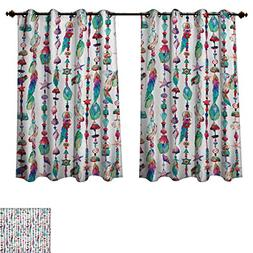 RuppertTextile Feather Blackout Curtains Panels for Bedroom