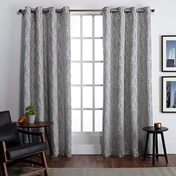 Exclusive Home Finesse Grommet Top Curtain Panel Pair, Ash G