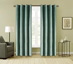 FirstHomer 2-Piece Solid Heavy Velvet Curtains /Drapery Pane
