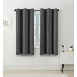 FlamingoP 95% Blackout Shade Curtains Thermal Insulated Grom
