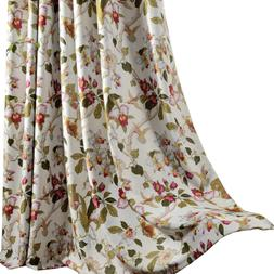 flower curtains blackout bedroom drapes anady 2